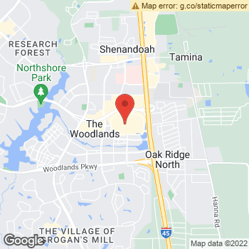 Map of American Eagle Store at 1201 Lake Woodlands Drive, The Woodlands, TX 77380