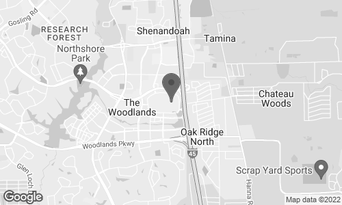 Map of 1201 Lake Woodlands Drive in Woodlands