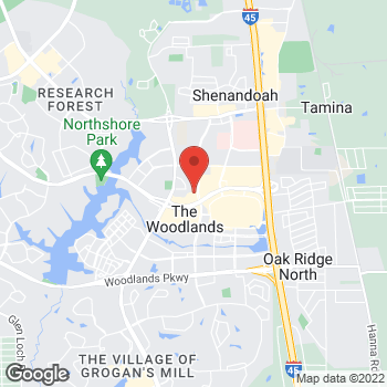 Map of Taco Bell at 9945 Six Pines Dr, The Woodlands, TX 77380