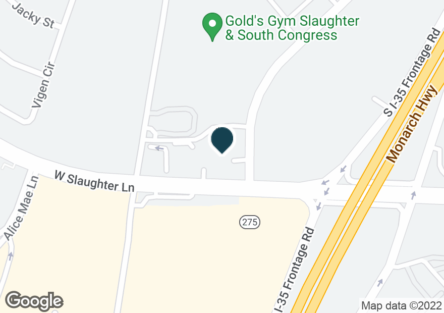 Google Map of120 W SLAUGHTER LN