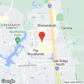 Map of Bed Bath & Beyond at 1560 Lake Woodlands Drive, The Woodlands, TX 77380