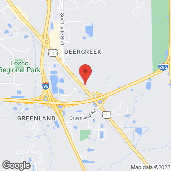 Map of O'Steen Volvo Cars of Jacksonville at 10863 Phillips Highway, Jacksonville, FL 32256
