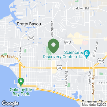 Map of Terminix at 1337 West 19th St, Panama City, FL 32405
