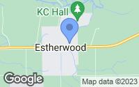 Map of Estherwood, LA