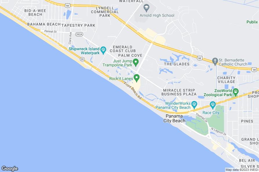Edgewater Beach And Golf Resort Map