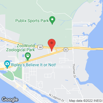 Map of Tuesday Morning at 7928 Front Beach Road, Panama City Beach, FL 32407