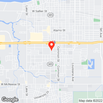 Map of Pizza in Lake Charles, LA – Cicis Pizza at 3533 Ryan Street, Lake Charles, LA 70605