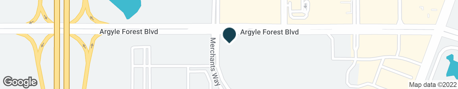 Google Map of9700 ARGYLE FOREST BLVD