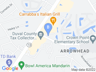 Map of A Cat Clinic Inc Dog Boarding options in Jacksonville | Boarding