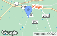 Map of Paige, TX
