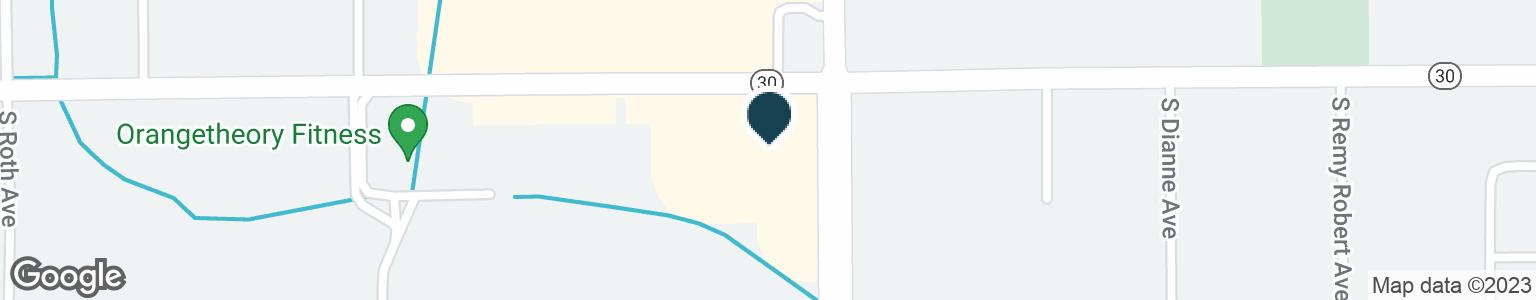 Google Map of105 W HIGHWAY 30