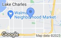 Map of Lake Charles, LA
