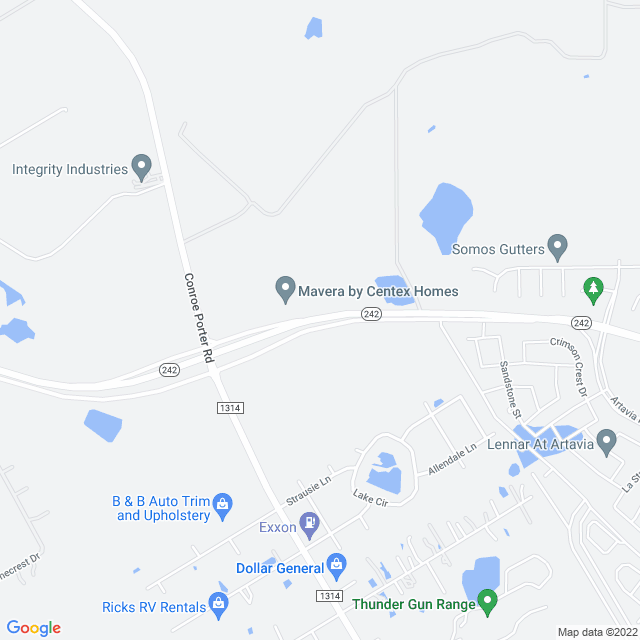 Map of Toll Road | SH 242
