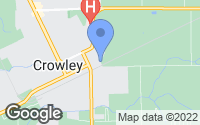 Map of Crowley, LA