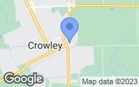 Map of Crowley, LA