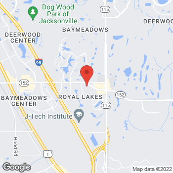 Map of Hair Cuttery - Closed at 9550 Baymeadows Rd Ste 12, Jacksonville, FL 32256