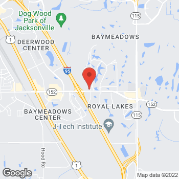 Map of Arby's at 9171 Baymeadows Rd, Jacksonville, FL 32256