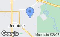 Map of Jennings, LA