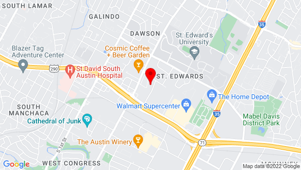 Google Map of 3708 Woodbury Drive, Austin, Texas 78704
