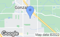 Map of Gonzales, LA