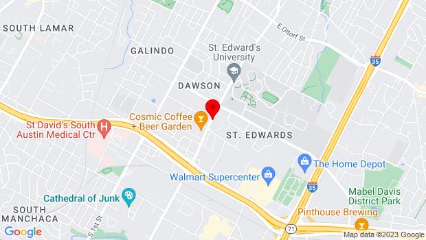 Google Map of 3601 South Congress Avenue, Austin, TX 78704