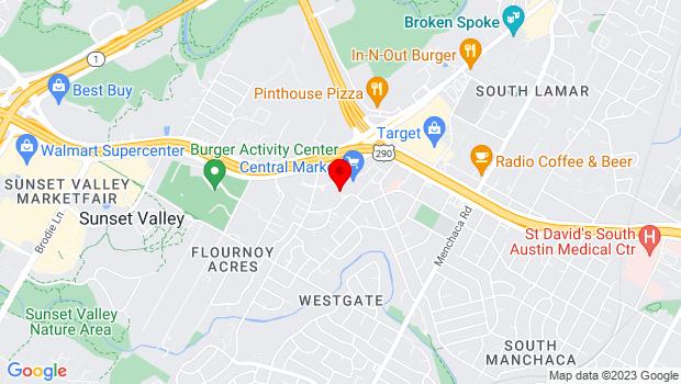 Google Map of 4477 S Lamar Blvd, Austin, TX 78745