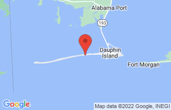 Map of Dauphin Island
