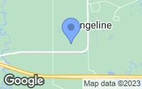 Map of Evangeline, LA