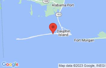 Map of Dauphin Island