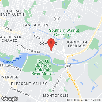 Map of Mighty Auto Parts at 5001 East 5th Street, Austin, TX 78702