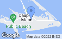 Map of Dauphin Island, AL
