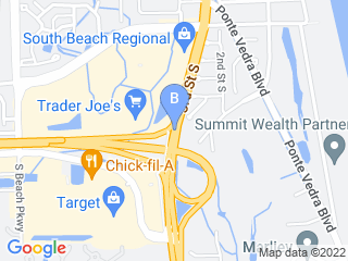 Map of A Cat Clinic Inc Dog Boarding options in Jacksonville Beach | Boarding