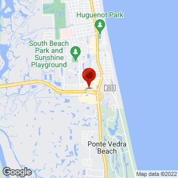 Map of Staples® Print & Marketing Services at 4016 South Third Street, Jacksonville Beach, FL 32250