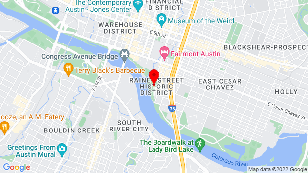 Google Map of 600 River Street, Austin, TX 78701