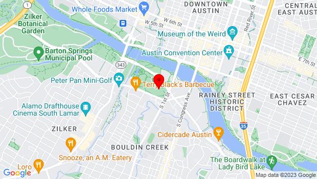Google Map of 701 West Riverside Drive, Austin, TX 78704