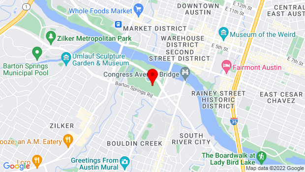 Google Map of The Long Center for the Performing Arts , Austin, TX 78704