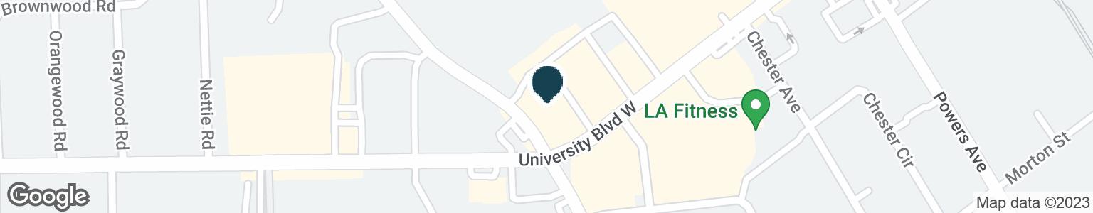Google Map of3505 UNIVERSITY BLVD W