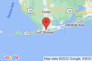 Map of Alabama Gulf Coast