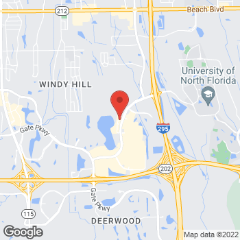 Map of Taco Bell at 4466 Towne Center Parkway, Jacksonville, FL 32246
