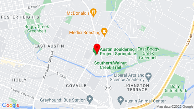 Google Map of 979 Springdale Rd, Austin, TX 78702