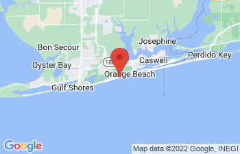 Map of Orange Beach