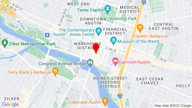 Google Map of 227 Congress Avenue, Austin, TX 78701