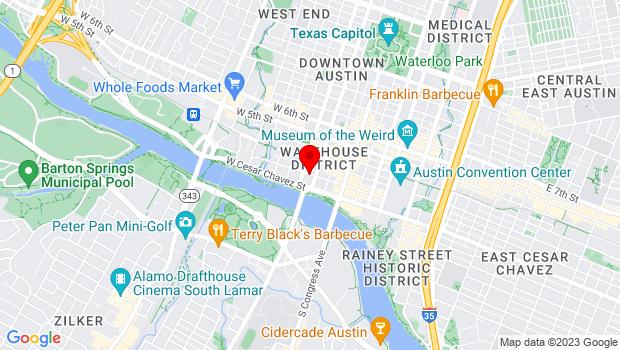Google Map of 301 West Second Street, Austin, TX 78701