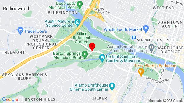 Google Map of 2100 Barton Springs Road, Austin, TX 78704