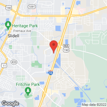 Map of location-map at 280 Town Center Parkway, Slidell, LA 70458