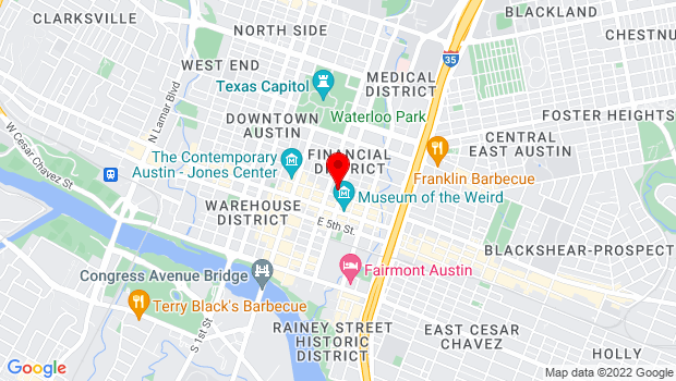 Google Map of 301 E 8th St, Austin, TX 78701