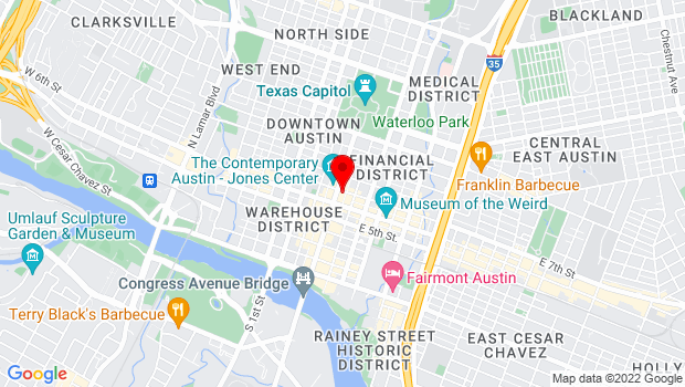 Google Map of 617 Congress Avenue, Austin, TX 78701