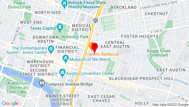 Google Map of 1009 East 11th Street, Austin, TX 78702