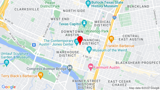 Google Map of 719 Congress Ave, Austin, TX 78701