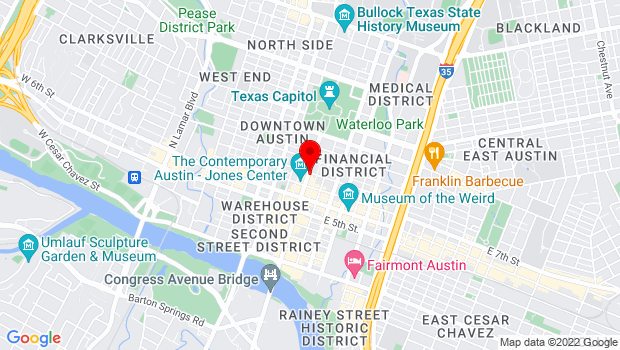 Google Map of 721 Congress Avenue, Austin, TX 78701